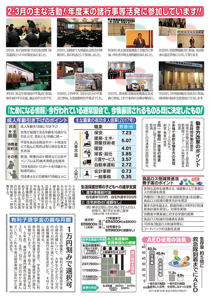 城下広作県政報告誌第85号2面